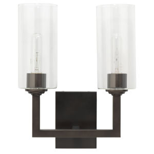 Linear Oil Rubbed Bronze Two-Light Wall Sconce