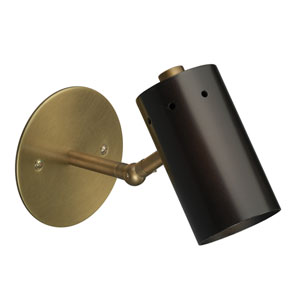 Milano Oil Rubbed Bronze and Antique Brass Two-Inch Sconce