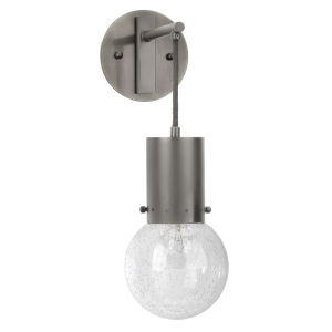 Strada Gun Metal and Clear Glass Five-Inch Sconce