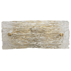 Swan Clear Antique Brass Five-Inch Two-Light Wall Sconce