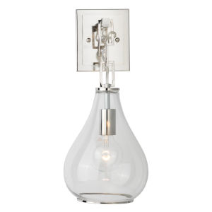 Clear Glass with Nickel One-Light Wall Sconce
