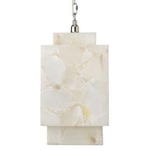 Borealis Alabaster One-Light Mini Pendant