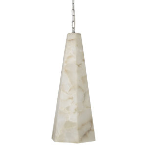 Borealis Alabaster 10-Inch One-Light Pendant