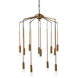 Cascade Antique Brass 26-Inch Pendant