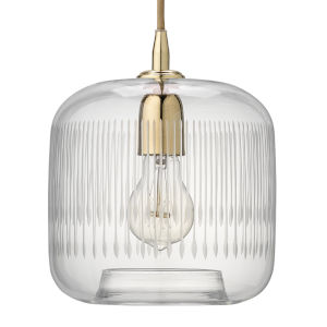 Contour Clear with Brass One-Light Mini Pendant