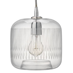 Contour Clear with Nickel One-Light Mini Pendant