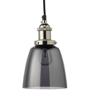 Factory Nickel Smoke Six-Inch One-Light Mini Pendant