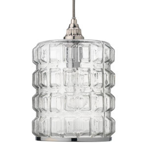 Madison Clear Glass with Silver Hardware One-Light Mini Pendant