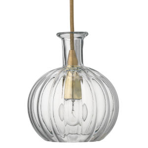 Sophia Clear with Brass One-Light Mini Pendant