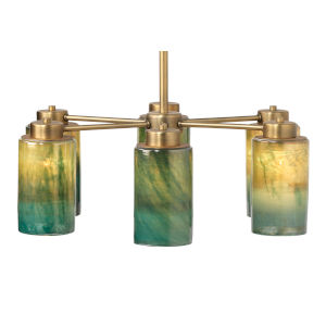 Vapor Antique Brass with Vapor Glass Six-Light Chandelier