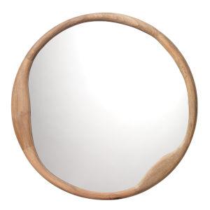Organic Natural Wood Round Mirror