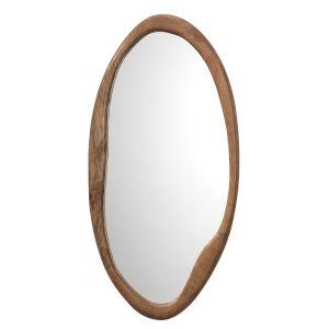 Organic Natural Wood Oval Mirror