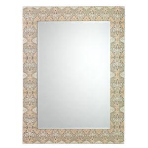 Rorschach Grey and Cream Lacquer Mirror