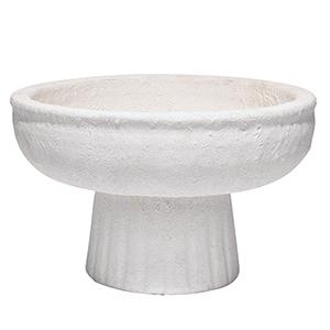 Aegean Matte White 11-Inch Pedestal Bowl