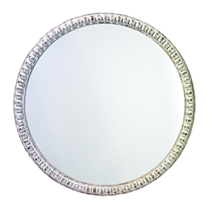 Audrey White Wood Mirror
