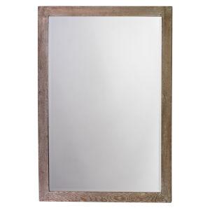Audrey White Wood Mirror