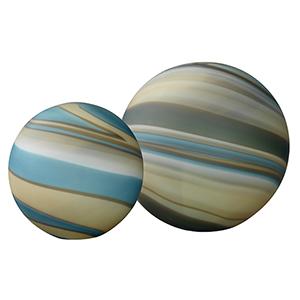 Cosmos Terrene  Glass Ball, Set Of 2