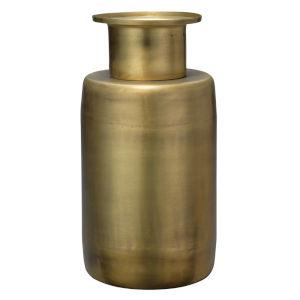 Hera Antique Brass Metal Vase