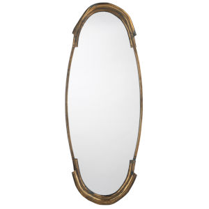 Margaux Antique Brass 17 x 45 Inch Mirror