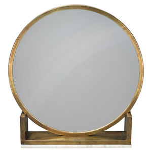 Odyssey Antique Brass and Marble Mirror