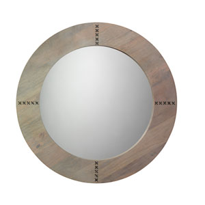 Owen Grey Washed Wood and Antique Silver Mirror