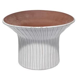 Podium Cream Ceramic 14-Inch Vessel
