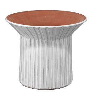 Podium Cream Ceramic 10-Inch Vessel