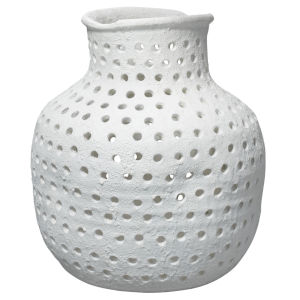 Porous Matte White Porcelain Vase