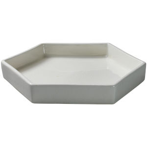 Porto White Ceramic 13-Inch Ceramic Serving Tray