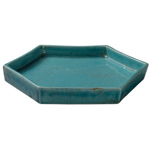 Porto Blue Ceramic 10-Inch Ceramic Serving Tray