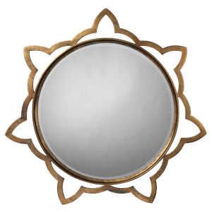 Sante Antique Brass 36 x 36 Inch Mirror