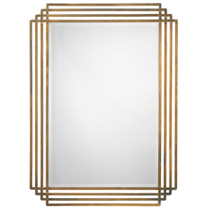 Serai Antique Brass 44 x 32 Inch Mirror