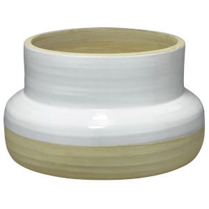 Sundial White and Natural Ceramic  Vase