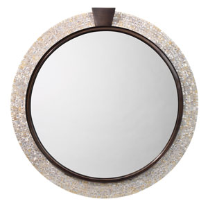 Thea Mother of Pearl and Bronze Mirror