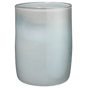Vapor Metallic Opal 10-Inch Glass Vase