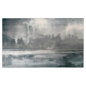 Cloudscape Navy and Slate Lacquer Wall Art