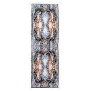 Rorschach Indigo Blue Lacquer Wall Art