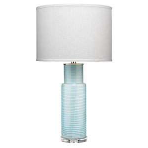 Atwater Sky Blue Glass Table Lamp