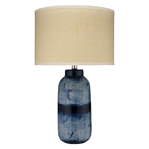 Indigo One-Light 15-Inch Table Lamp