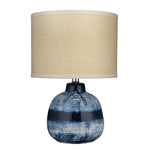 Indigo One-Light 12-Inch Table Lamp