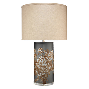 Blossom Matte Grey Glass Table Lamp