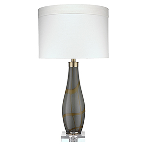 Boa Taupe Glass One-Light Table Lamp