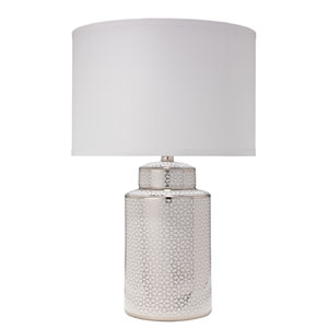 Celeste Silver and White 15-Inch Table Lamp