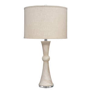 Commonwealth White Faux Alabaster One-Light Table Lamp