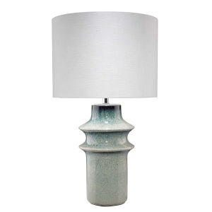Cymbals Blue Reactive Glaze One-Light Table Lamp