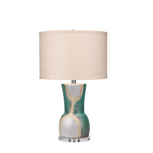 Estel Aqua White with Natural One-Light Table Lamp