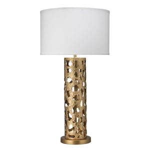Firenze Antique Gold and White One-Light Table Lamp
