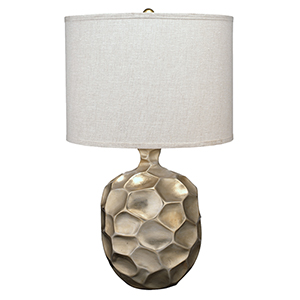 Fossil Champagne Leaf One-Light Table Lamp