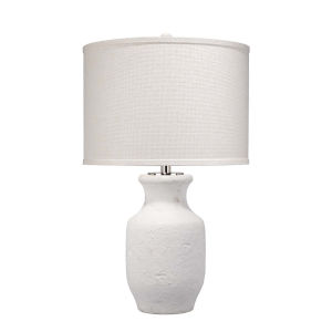 Gilbert Textured Matte White One-Light Table Lamp