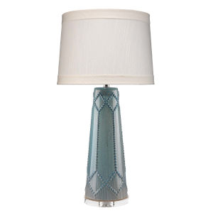 Hobnail Teal One-Light Table Lamp